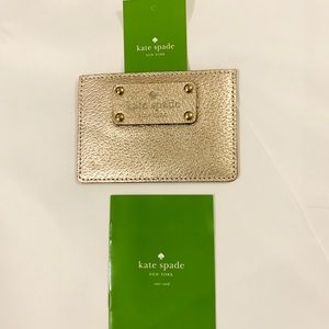 Kate Spade Card Holder- Gold